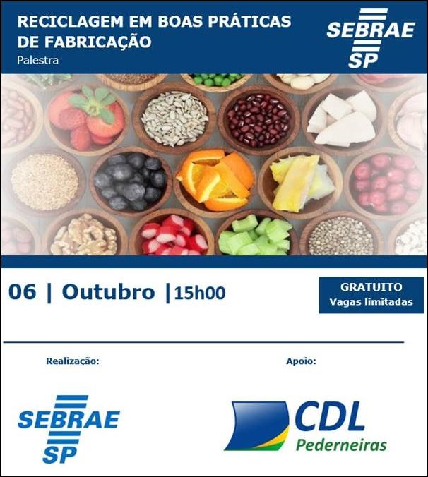 Palestra de fabrica o de alimentos realizada na cdl cdl pederneiras - Titulo manipulador alimentos ...